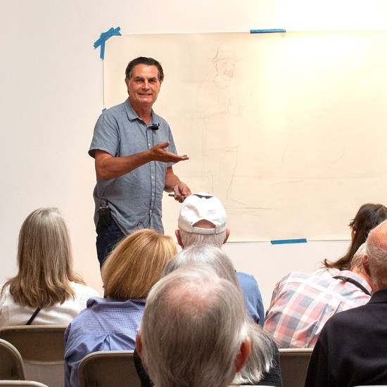 """Jim Vogel Artist Talk, July 2019 — """"The Creative Process and Debunking the Myth of the Muse"""""""