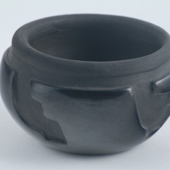 Billy Cain - Carved Blackware Pottery Bowl