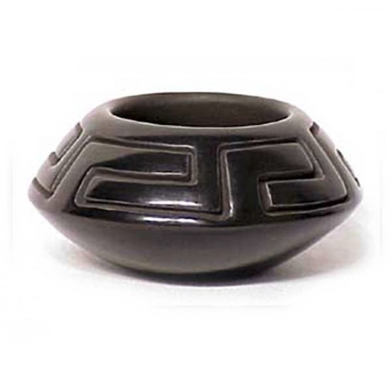 Anita Suazo - Carved Blackware Pottery Bowl