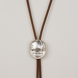 Preston Singletary - Bolo Tie with Glass Mask Pendant