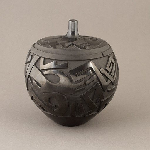 Tammy Garcia - Carved Blackware with Avanyu