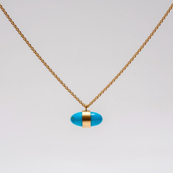 Maria Samora - Castle Dome Turquoise Bullet Necklace