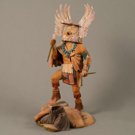 Cecil Miles - Great Horned Owl Kachina-Mangwa