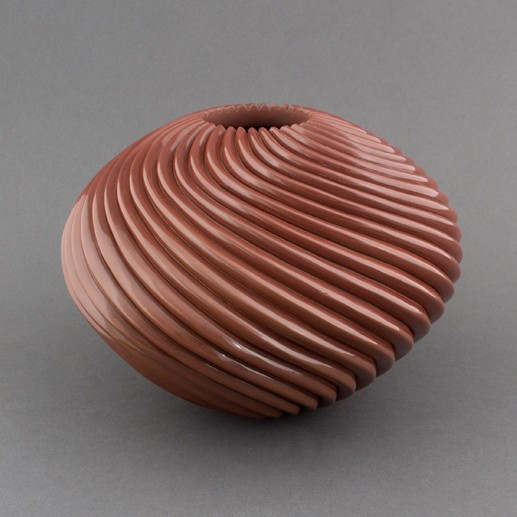 Nancy Youngblood - Redware Swirl Pot