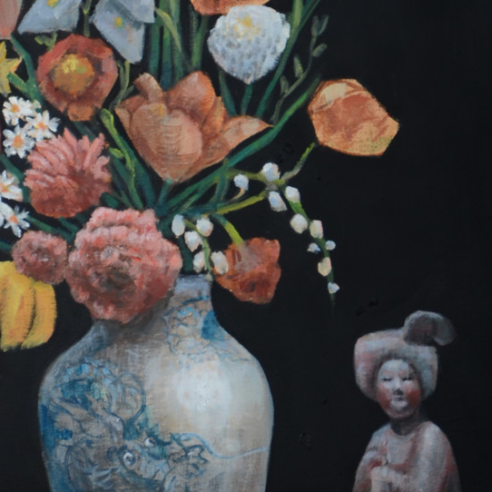Rimi Yang - Mixed Flower with a Clay Lady