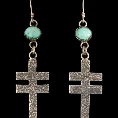 Unspecified Artists - Dragonfly Cross Earrings
