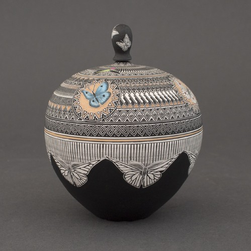 Wallace Nez, Jr. - Miniature Pottery with Butterflies & Hummingbirds