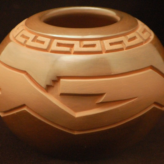 Harrison Begay - Carved Pottery Jar
