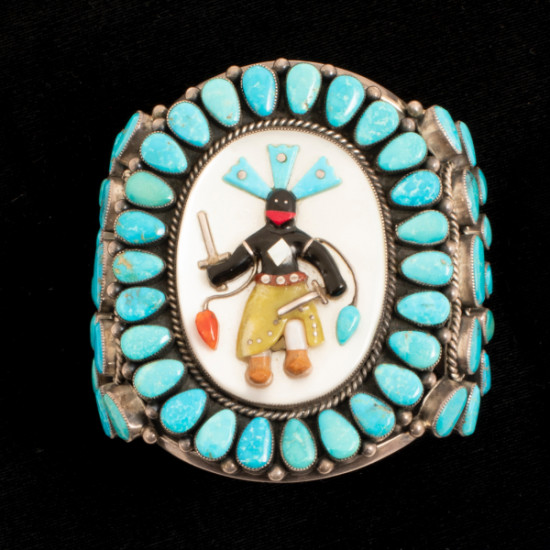 Unknown - Silver and Turquoise Bracelet