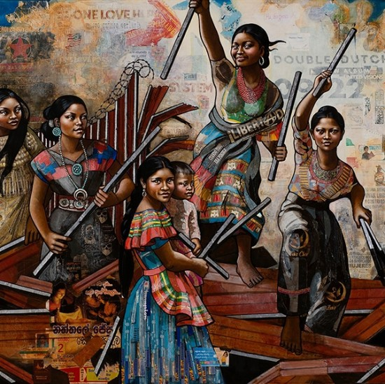 Erin Currier - American Women (Dismantling the Border) III (After Delacroix)