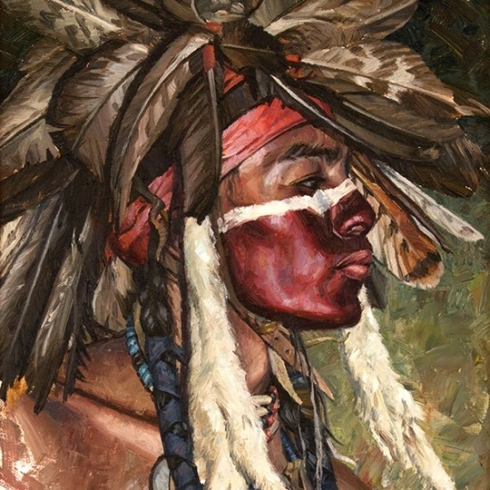 Hyrum Joe - Cheyenne War Paint and Golden Eagle Feathers