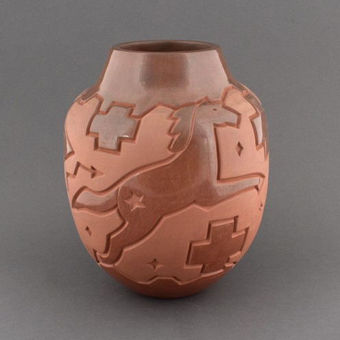 Harrison Begay - Brownware Vase