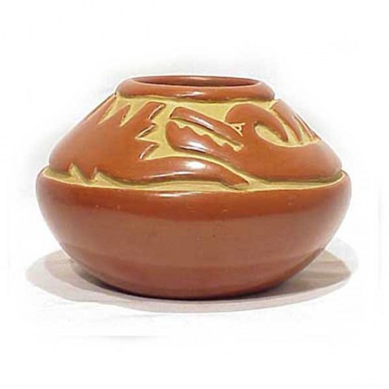 Margaret Tafoya - Carved Redware Pottery Jar