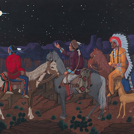 Pablita Velarde - The Pueblo, The Navajo, and the Plains Chiefs