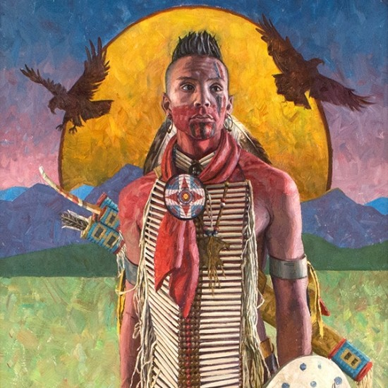 Hyrum Joe - Warrior Pawnee Boy and His Eagle Protectors