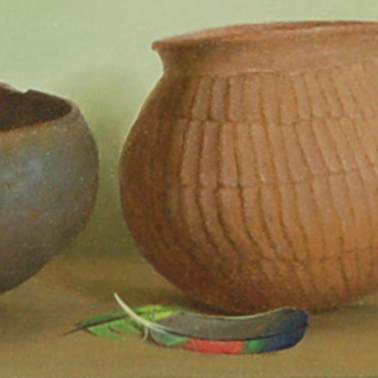 Turid Pedersen - Prehistoric Vessels with Parrot Feathers