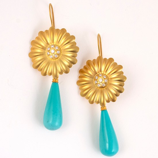 Maria Samora - Sunflower Earrings