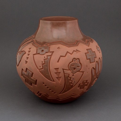 Harrison Begay - Carved Redware Pottery