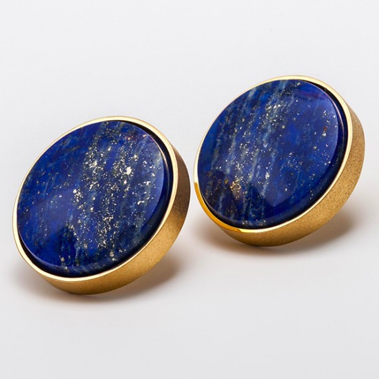 Maria Samora - Lapis Stud Earrings
