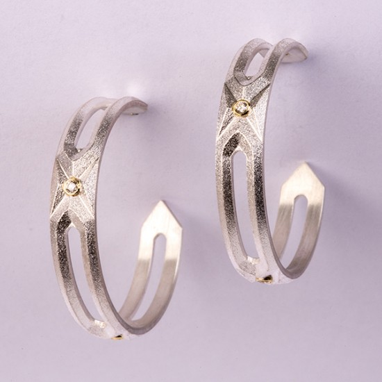 Maria Samora - Hexagon Hoops (Small)