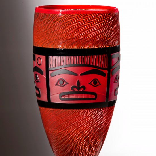 Preston Singletary and  Dante Marioni Collaboration - Chilkat Fire Vase