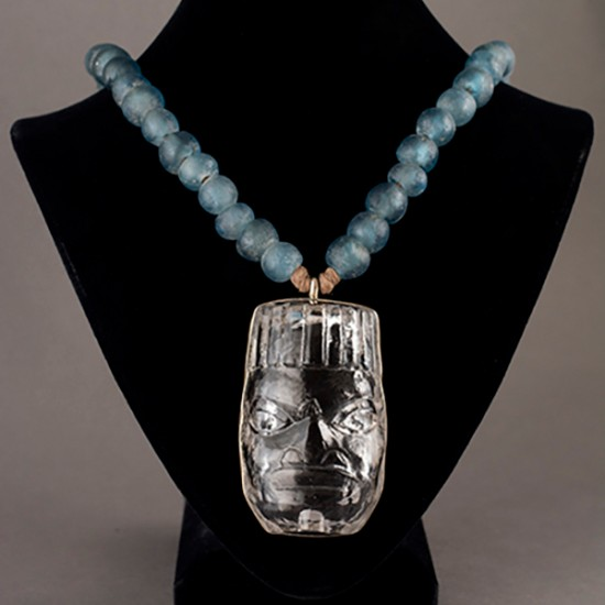 Preston Singletary - Cast Glass Mask Pendant
