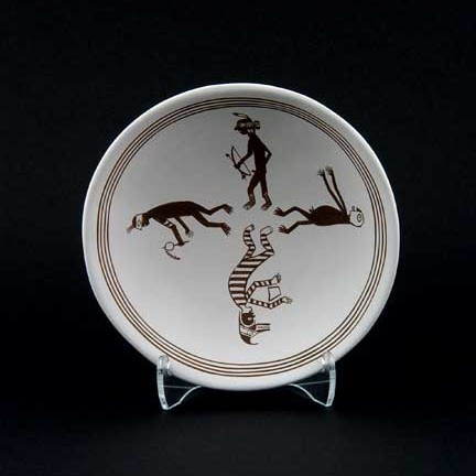 Kimo DeCora - Black-on-White Miniature Pottery Plate