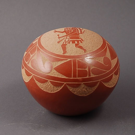 Unspecified Artists - Redware Miniature Pottery Seed Bowl