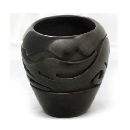 Teresita Naranjo - Carved Blackware Pottery Jar