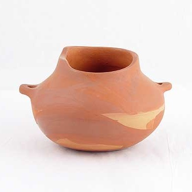 Linda Cain - Redware Jar with handles