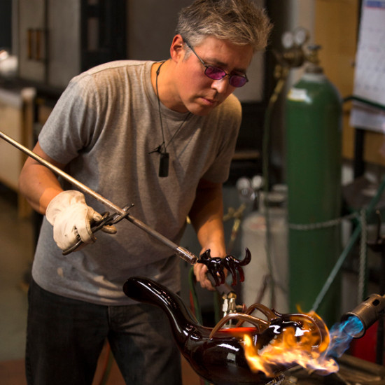 Glass Blowing Demonstrations with Preston Singletary and Dan Friday