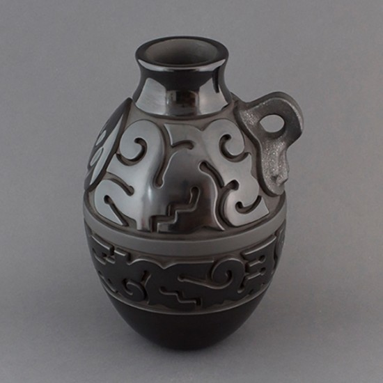 Nathan Youngblood - Santa Clara Blackware Pottery with Handle