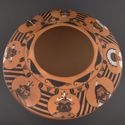 Mark  Tahbo - Polychrome Katsina Pot
