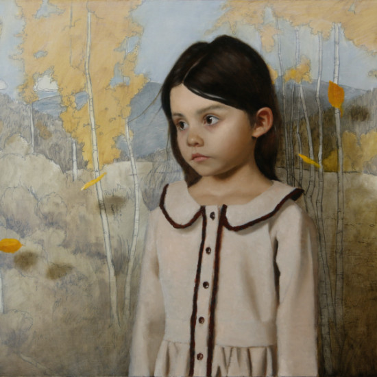 Mark Pugh - Girl in Taos Forest (after Joseph Henry Sharp painting titled Taos Forest)