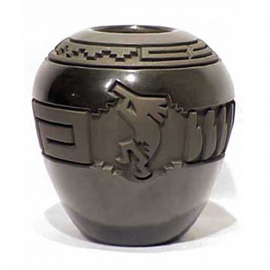 Harrison Begay - Carved Blackware Pottery Jar