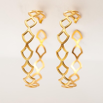 Maria Samora - Gryphon Hoop Earrings