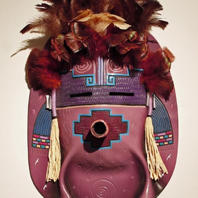 Peter Ray James - Navajo Pottery Yei Mask