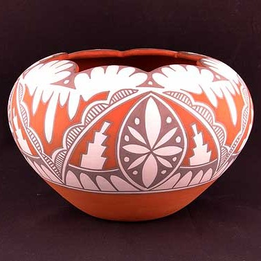 Unspecified Artists - Polychrome Pottery Bowl