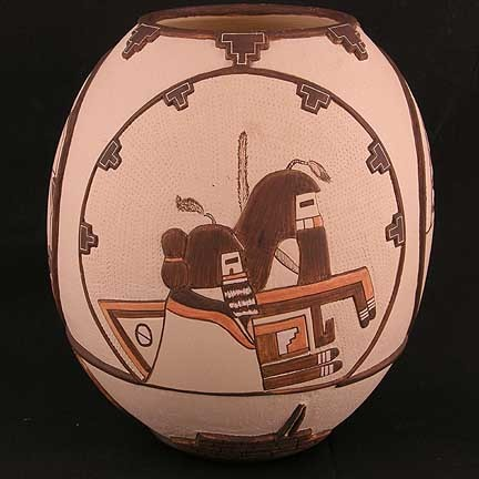 Unspecified Artists - Polychrome Pottery Jar