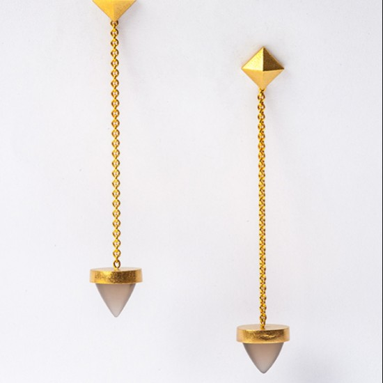 Maria Samora - Moonstone Bullet Earrings