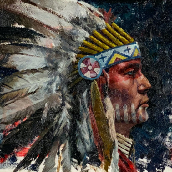 Hyrum Joe - War Paint and His Father's Headdress