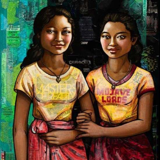 Erin Currier - Balinese Schoolgirls: Sumerti & Koming (after Chasseriau)
