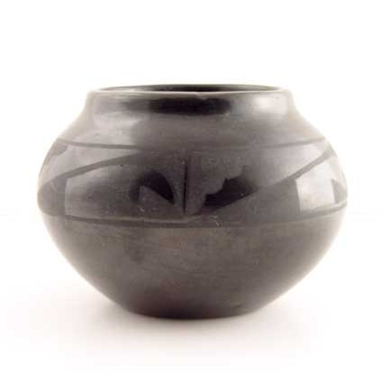 Maria Martinez - Black-on-Black Pottery Bowl