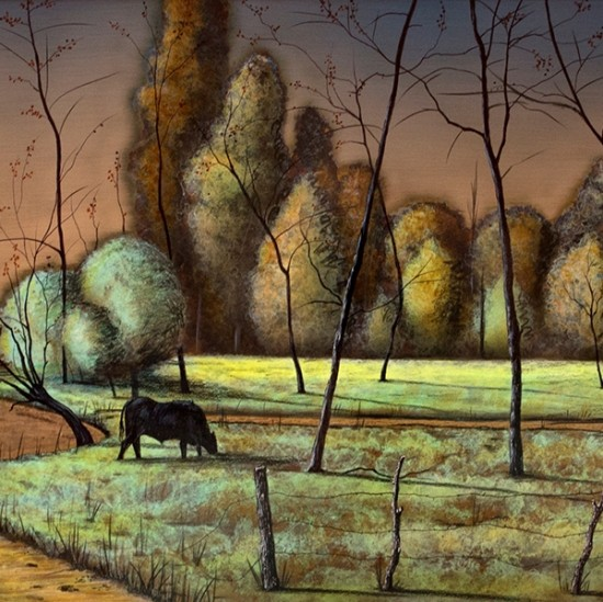 Nathan Bennett - Passing the Village in Early Fall