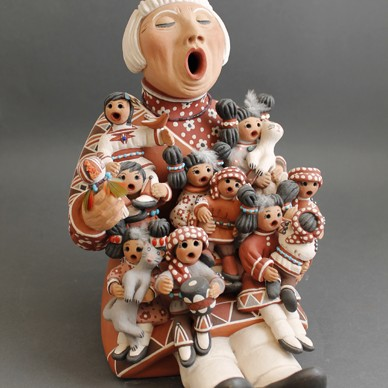 Joyce Sisneros - Polychrome Pottery Storyteller- (female)