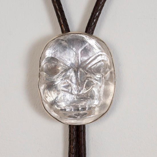 Preston Singletary - Bolo Tie with Cast Glass Mask Pendant