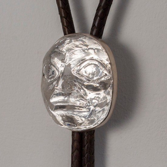 Preston Singletary - Bolo Tie with Glass Mask Pendant 2