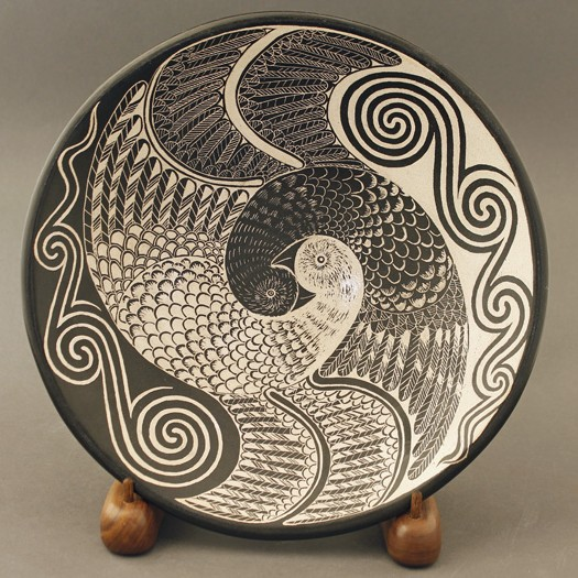 Richard Zane Smith - Yinyang Bird Plate