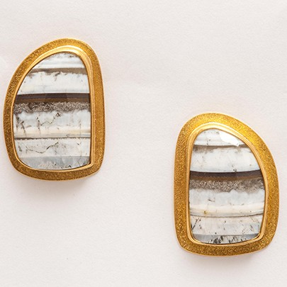 Maria Samora - African Opal Earrings (I)