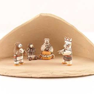 Thomas Natseway - Miniature Pottery Bear Dancers